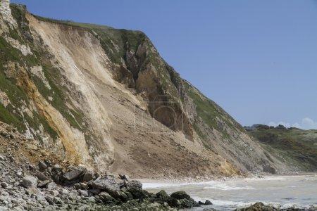 Major coastal landslide and rockfall , Dorset,UK