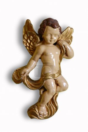 Photo for Ceramic cherube on white background - Royalty Free Image
