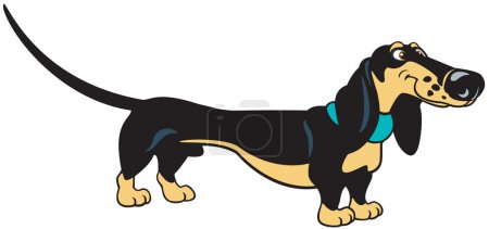 Standing cartoon dachshund