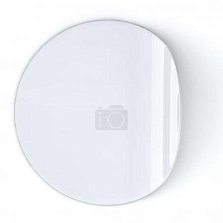 Photo pour Blanc autocollant rond blanc avec bord recourbé. - image libre de droit
