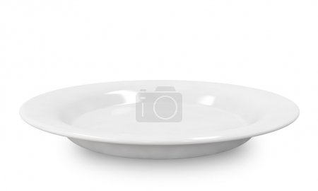 Photo for Empty plate isolated on white background. - Royalty Free Image