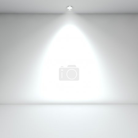 Photo for Illuminated empty white interior with spot light. - Royalty Free Image