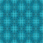 Seamless blue bulged stripes vector pattern