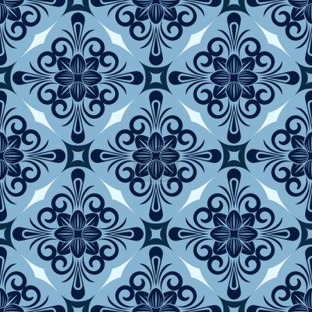 Modèle bleu hiver sans couture