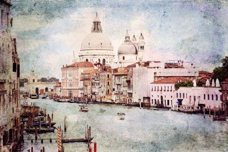 Venice. Vintage style photo.