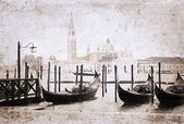 Venice, artwork in retro style
