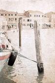 artwork in grunge style, Venice