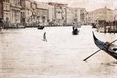 Artwork in retro style, Venice, Italy