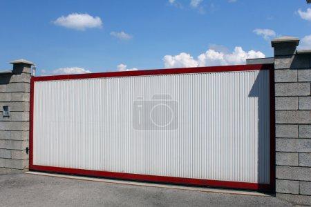 White modern gate