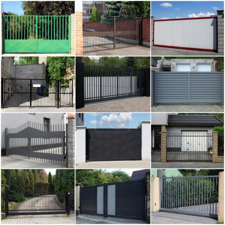Photo for Collection of metal gates - Royalty Free Image