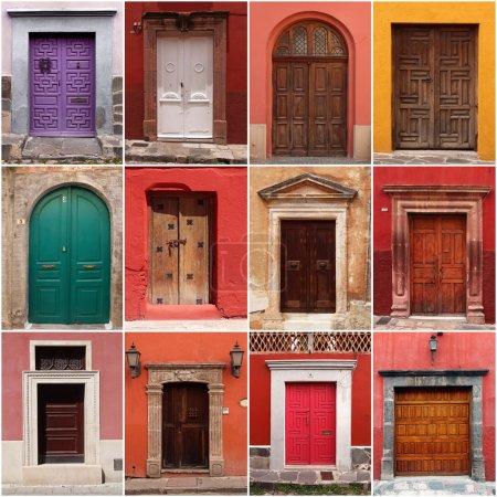 collection de portes mexicains colorés