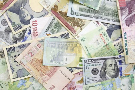 Different foreign currency background- concept of exchange rate