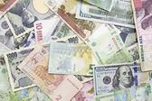 Andere ausländische Währung Hintergrund-Konzept des Wechselkurses