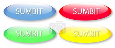 Glassy submit buttons isolated on white background...