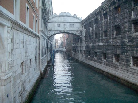 View over the Bridge of Sighs, Venice, Italy...