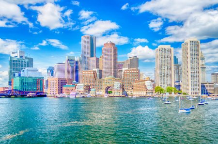 Photo for Boston Skyline as seen from the Bay - Royalty Free Image