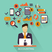 Flat design  Freelance career Accounting