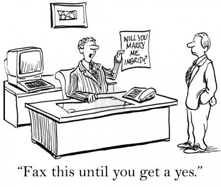 """Foto de """"Este fax hasta obtener un sí."""" - Imagen libre de derechos"""