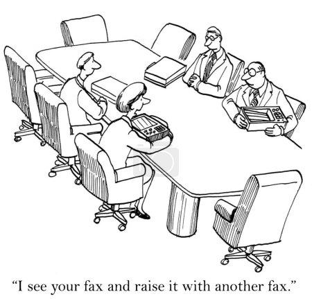 meine Antwort in einem Fax auf Ihre Frage