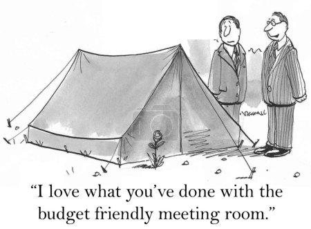"""Photo pour """"J'adore ce que vous avez fait avec la salle de réunion budget convivial."""" - image libre de droit"""