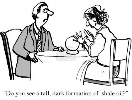 """Photo pour """"Voyez-vous de grandes formations sombres de pétrole de schiste?"""" - image libre de droit"""