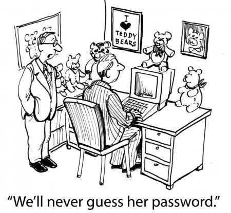 We'll never guess her password if it's a bear