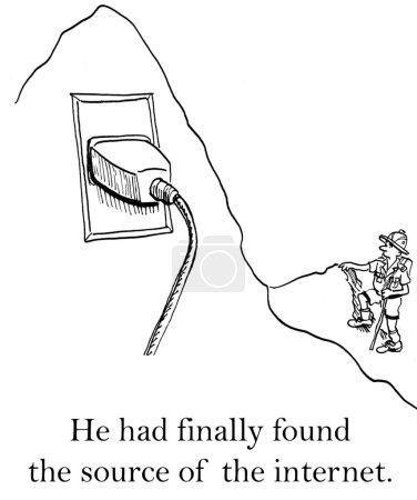 Explorer has sought the origin of the internet