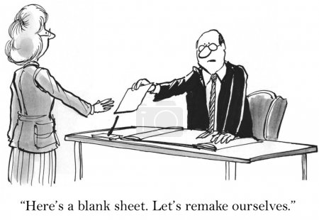 """""""Here's a blank sheet. Let's remake ourselves"""""""