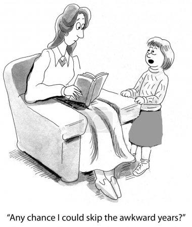 Tochter fragt ihre Mutter
