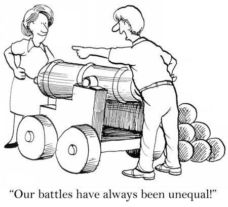 Unequal confrontation