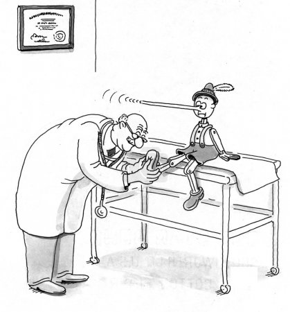 Pinocchio at the doctor