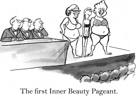 Woman in a beauty contest.
