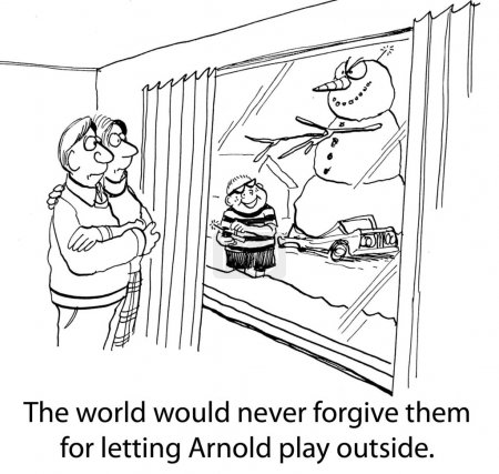 Arnold's parents should never have let him play outside without supervision.