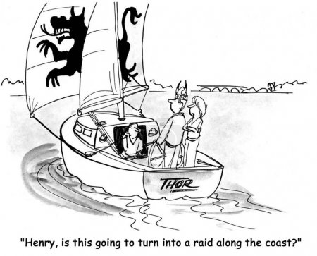 Cartoon illustration. Henry, is this going to turn into a raid along te coast