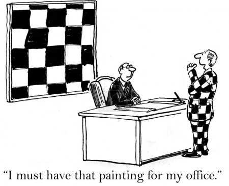 Checkered painting is a must have from Jack