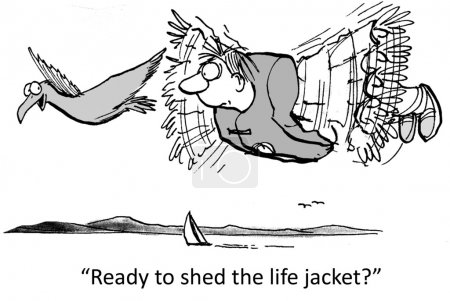 Man will try flying without a life jacket