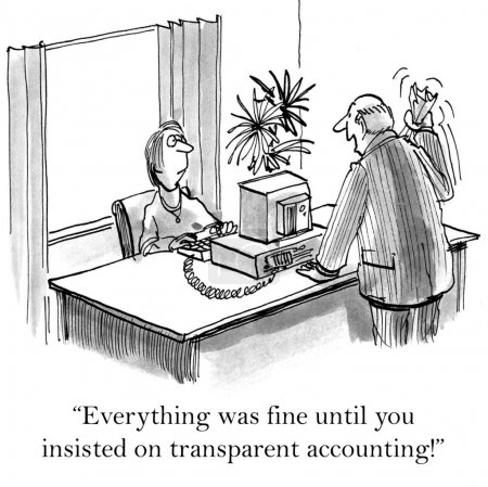 "Foto de ""Everything was fine until you insisted on transparent accounting!"" - Imagen libre de derechos"