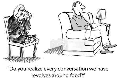 Dog always talks about food