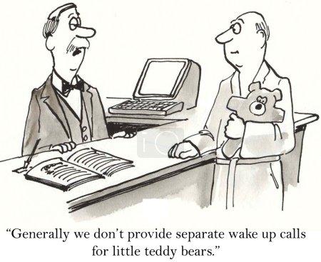 Cartoon illustration wake up calls