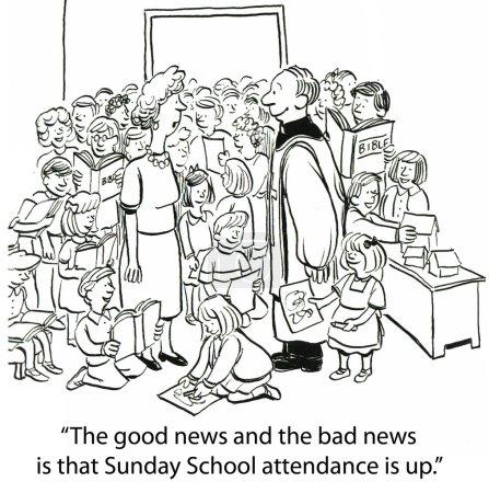 """Photo pour """"Les bonnes et les mauvaises nouvelles sont que la fréquentation de l'école du dimanche est en hausse ."""" - image libre de droit"""
