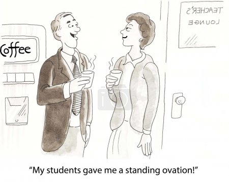 """Photo pour """"Mes élèves m'ont fait une ovation debout."""" - image libre de droit"""