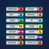 Buttons Vector colored buttons for web and computing colorful web designing button template elements