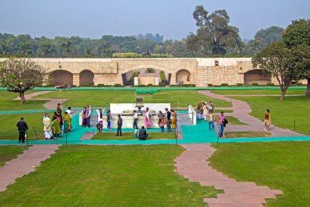 Indians at Rajghat memorial New
