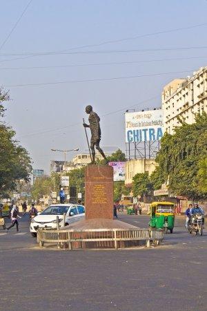 Памятник Ганди в Данди Марш
