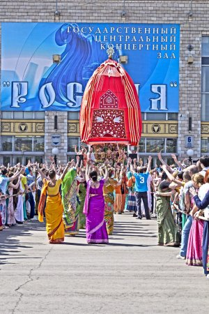 Ratha-Yatra festival in Moscow