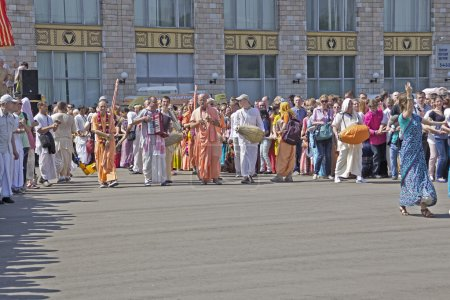 Iscon devotees on Ratha-Yatra