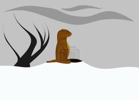 Jour nuageux de la marmotte