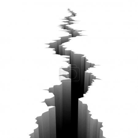 Photo pour Illustration 3D Earth Crack - image libre de droit