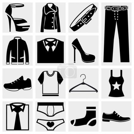 Clothes vector icon.