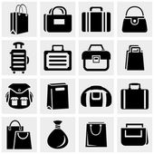 Shopping bag icons set isolated on grey backgroundEPS file available